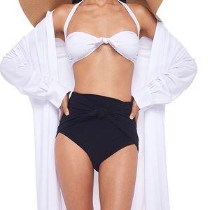 NWT Norma Kamali Ty Front Bikini Bra XS